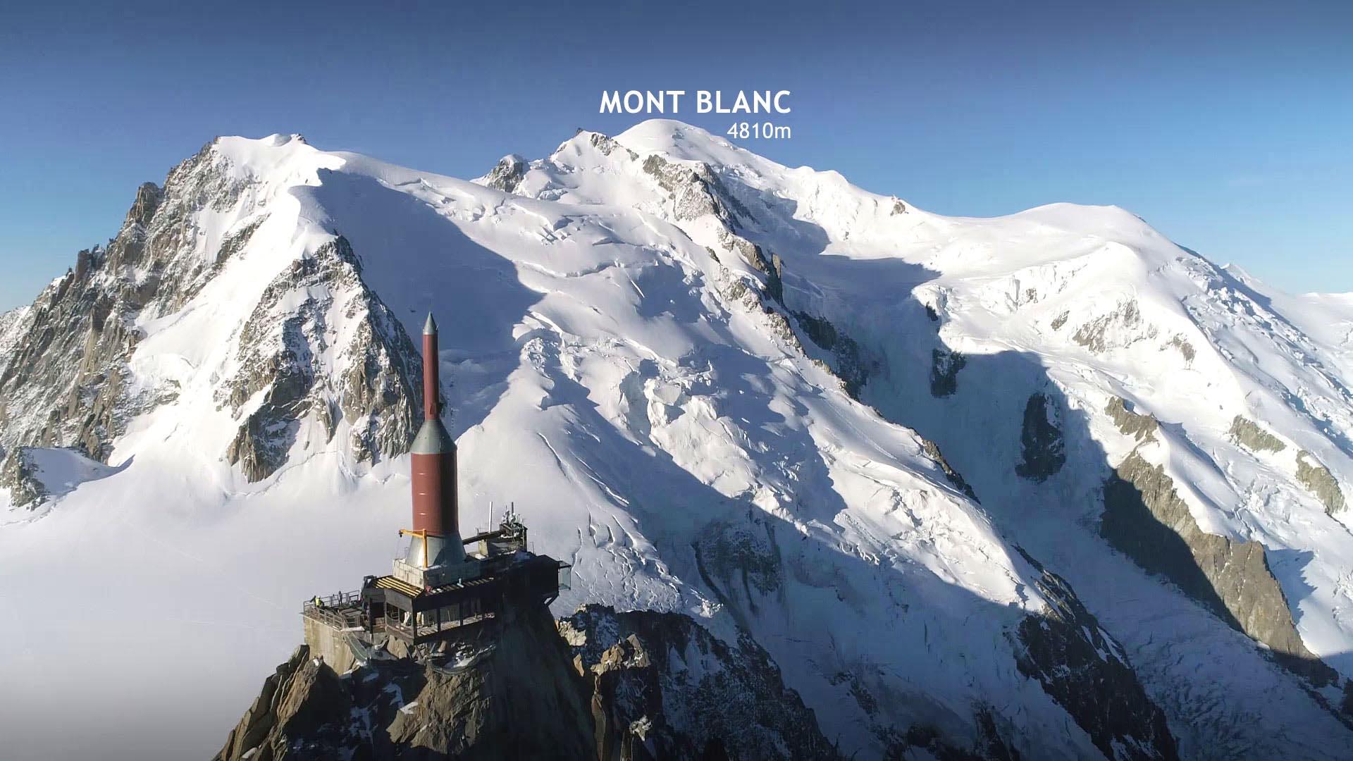 [CORPORATE] Drone : chantier en haute montagne, à l'Aiguille du midi